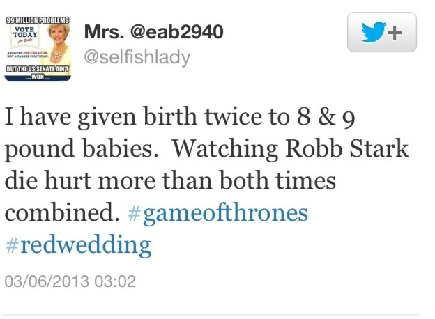 Red Wedding Reaction.Twitter Reacts To The Game Of Thrones Red Wedding Off The Record